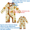 top quality 100% cotton baby romper with long sleeve