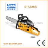 45cc log cutting tool with CE professional china chainsaw 4500