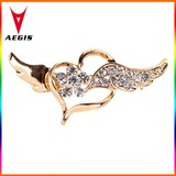 2015 New High Quality Gold Alloy Angel Wings Brooch Pin