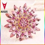 2015 Hot New Design Flower Brooch Crystal Brooch