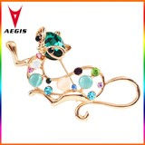 2015 New Design Crystal Squirrel China Wholesale Brooch