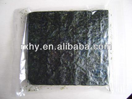 50sheets/bag gold seaweed laver, roasted seaweed snack , seaweed snack