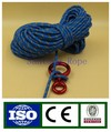 Polyester fast rope with rescue figure 8 ring