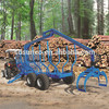 forest timber trailer with crane for tractor/log trailer with grapple