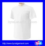 white blank t shirts custom t shirt 100% cotton short sleeve wholesale plain tshirts for men