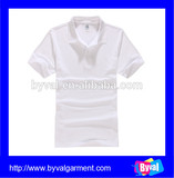 wholesale short sleeve white polo shirt custom polo shirt 100% cotton pique bulk polo shirt for men