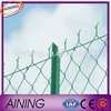 Chain link fence selvage knuckled/galvanized chain link mesh/chain link fence slats