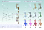 Hotel Furniture General Use Antique Appearance Acrylic Bamboo Chairs, plastic chiavari chairs, resin/wood/metal tiffany chair