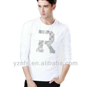 Mens Hot Design New Stylish Fashion 100% White Polyester T-shirt