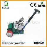 Portable flex banner hot air welder