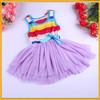 Multicolour kids clothing Cotton Girls Dresses , Latest Dress Designs For Flower Girls , Korean Kids Dress Wholesale