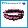 550 polyester paracord survival bracelet with plastic buckle