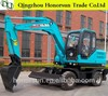 hydraulic excavating equipment 7.3t mini Wheel Excavator with many kinds of grab for sale