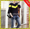 Men's latest fashion casual long sleeves splicing T- shirt