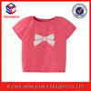 100% Cotton Short Sleeve Pretty Pattern Pullover Baby Knitwear