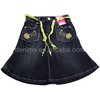 CJ-113-L1 mini embroidered denim skirt 2015 made in china for sex girl