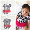 LittleSpring Baby Girl Bodysuits 2015 wholesale summer style cheap infant clothing romper print leopard baby girls rompers FJZ