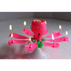 lotus musical rotation candle colorful flower candle