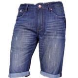 T1011 men mercerizing denim splendid deep color shorts pants jeans