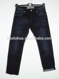 OEM/Wholesale 2015 indigo jeans HIGH-END100% cotton jeans men