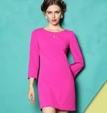 latest fashion lady dress ladies simple fashion dress designs for fat lady KF-0271