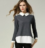 plus size women clothing comfortable and fashion hoodies KF-1320
