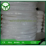 white ptfe extruded pipe/teflon tube