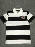 trade assurance mens 100% cotton yarn dyed polo shirt