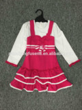 2015 fashion design small girls dresses with ruffle