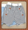 Hot promotion summer kids high quality cotton black plaid kids shorts