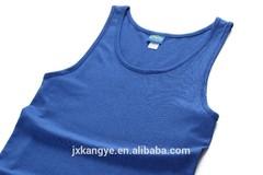 Bule close slim fit 100% cotton mens vest