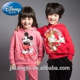 Mickey and Minnie CVC sweatshirt set with rubber printing,hoodie and pants