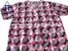 100% printed cotton poplin medical hospital scrub top