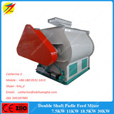 1 ton feed mixer double shaft feed mixer