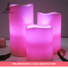 2016 new product 3pcs 12color scented led candle set