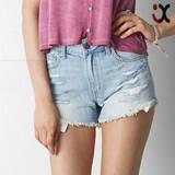 fashion design hot sale ripped denim shorts for women (JXY057 )