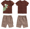 New Style Summer Children Printed Squares Baby Cotton Suit Short Sleeve T-shirt baby cloth baby gift sets