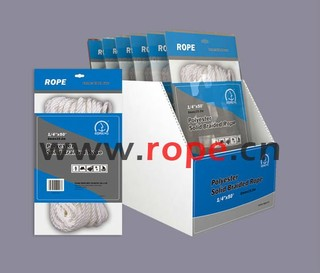 Polyester Solid Braided Rope/ supermarket/hardware
