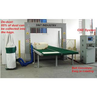 High Speed Rigid PU Foam Vacuum Cutting Machine Full Automatic , Foam CNC Cutter