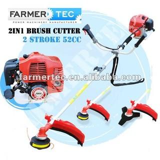 CE Approved Gasoline Brush Cutter 52cc 2 Stroke Hedge Trimmer