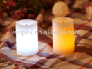 S/2 Paraffin Wax False Wicked Candle,Flameless Flickering Led Candle With Decorative Pattern