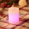 Votive Ivory Candle Unscented Textured Wax Carved Led Candle