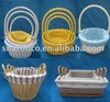 Willow storage baskets with cotton lining
