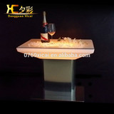 hot large metal bar table with light led square bar table