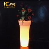 Large led lighting Plastic Planter Flower Pot Garden Pot
