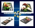 New style selling black color fruits tray slate stone square cheese plates