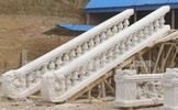 hand carved natural marble stairs