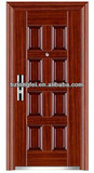 Steel security door for home and hotel