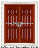 double leaf fire rated door with glass panels