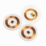 RFID transparent copper coil tag